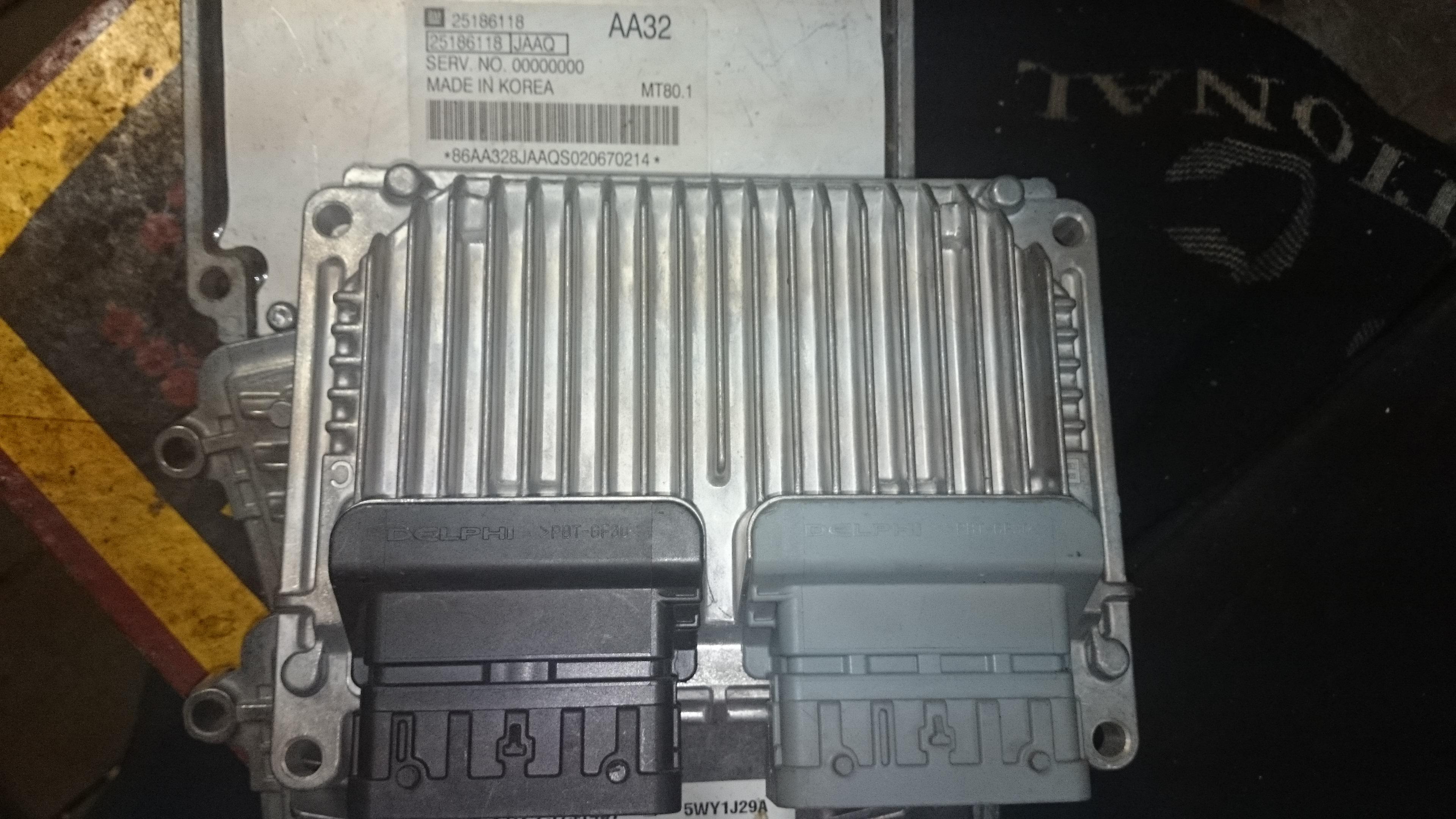 блок управления двигателем chevrolet aveo 1.6